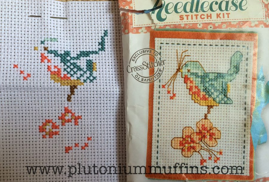 Stitch Maynia project on May 1st - a needlecase from Cross Stitcher magazine.