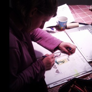 Designing the project page for Wonder-Gran's Christmas Pressie (Copyright Corrie B)