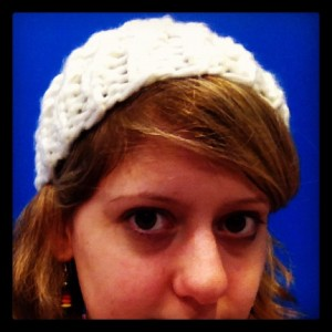 Modelling the Hospital Hat (Copyright Corrie B)