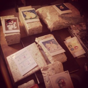 All the pressies for friends and family, with hand-made tags this year! (Copyright Corrie B)