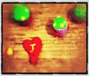 The Plutonium Muffins and a bead (Copyright Corrie B)