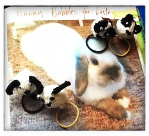 Bunny and Guinea Pig bobbles (Copyright Corrie B)