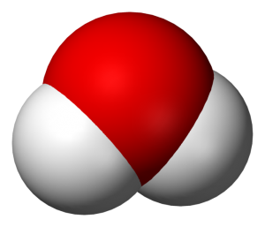 A water molecule -- good ole H2O