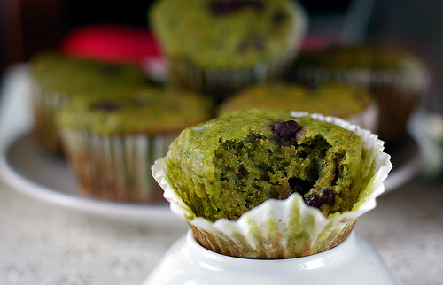 Green muffin, om nom nom.