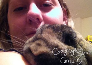 Me and the abandoned rabbit <3