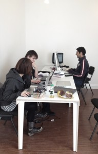 The work team settling into new offices (Copyright Corrie B)