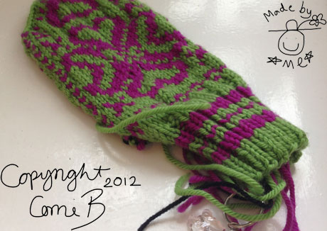 Basically finished, but no yarn left to complete the Fairisle Mittens! Argh!