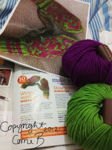 The magazine, the yarn, the pattern