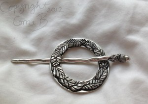 Absolutely gorgeous pewter brooch.
