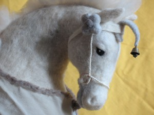 Felted horse, by Yling Tien