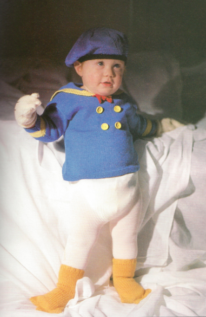 Baby in a Donald Duck outfit! Love it!