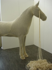 A knitted horse in Amsterdam