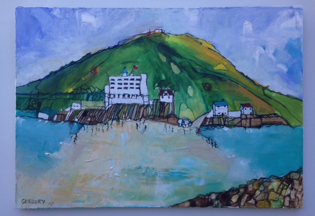 Painting of Burgh Island by Annabel Gregory, commissioned for mum's birthday.