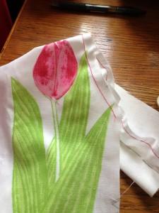 Tulip dress mock-up.