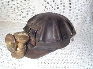 Antique Miner's Hat.
