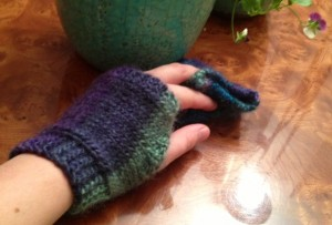 Back of left hand (one person can't take photos of both hands with mittens on!)