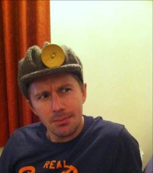 Miner's Hat on a miner.