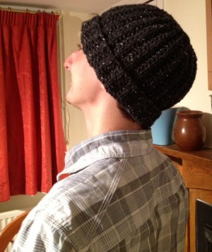 And side-back view of the hat.