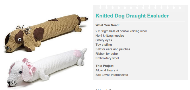 Free Guide For Knitted Dog Draught Excluder Click On The Picture