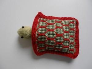 A little sleeping bag for Sheldon