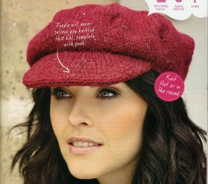 The red hat as it is shown in the magazine.