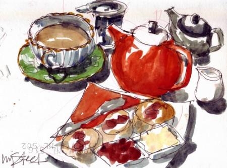 Mmmm a nice cuppa tea (Copyright Liz Steel)