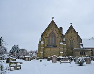 Speldhurst Church in the snow.