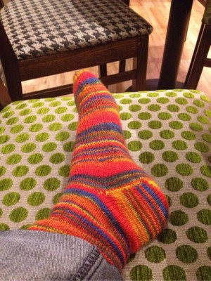 First sock - completed!