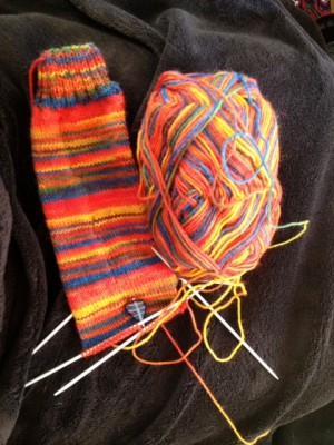 The second sock underway.