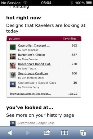 Check it out! Customisable Gadget Case on Ravelry.
