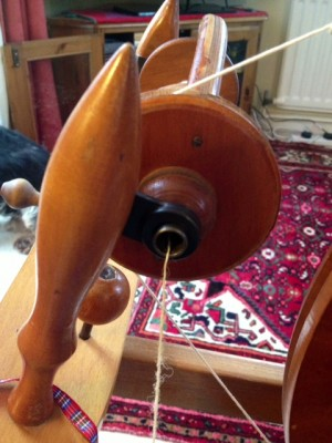 Fairly regular single winding onto the bobbin!