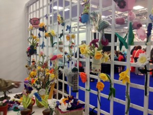 Knitted gardeny things, a competition held this year.