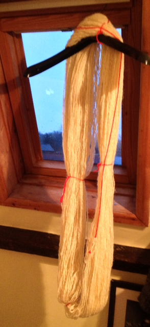 Resolution Yarn, drying in the window.
