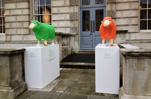 Two of the guardians of Wool House.