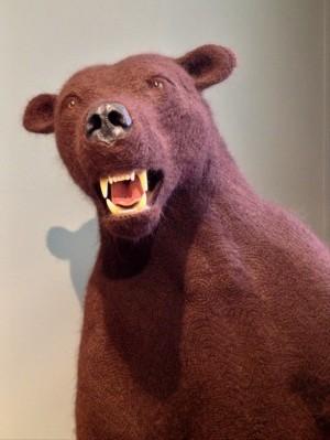 Shauna Richardson's crochetdermy bear.