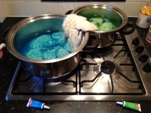 Dying with my gel food-colouring.