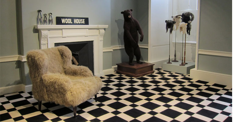 Shauna Richardson's crochetdermy bear at Wool House.