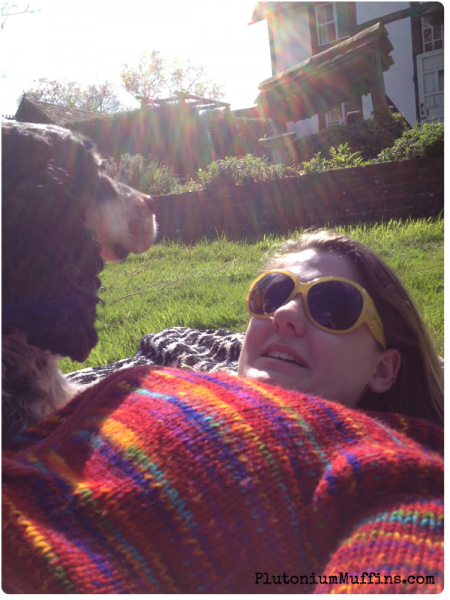 Tommy and I chilling in the sun before the walk.
