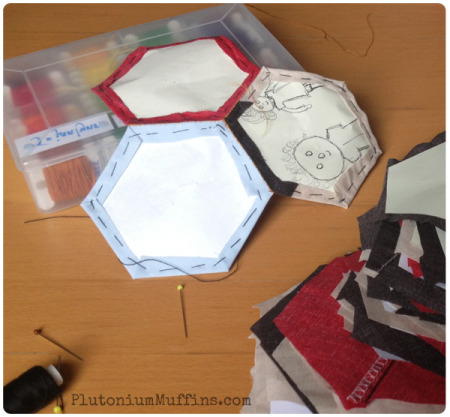 Starting to join the hexagons.