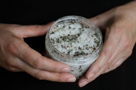 Salt Scrub with lavendar, fantastic.