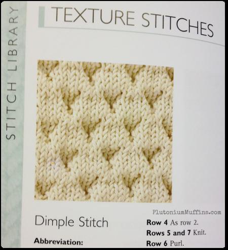 Gorgeous texture stitches.