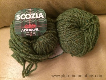 Adriafil Scozia, no. 34 green, ready to become a new design inspired by Dartmoor.