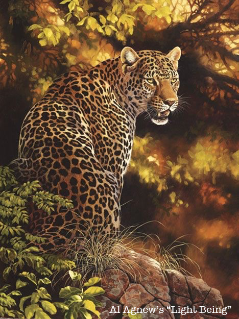 "Al Agnew's ""Light Being"", the painting Leopard's Gaze was based on."