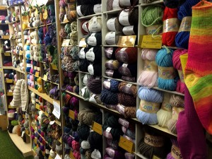 All the yarn! Except, this is only one wall of it, hehe.