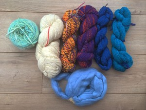 My spinning efforts, chronological from left to right.