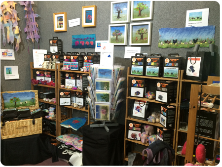 The Art Felt Stand, the proprietor was passionate about community and sharing of knowledge, which resonates with me.