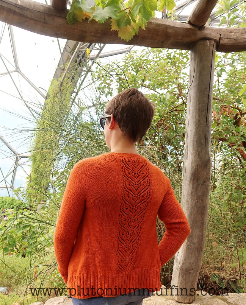 The cardigan from the back again - this one included because the pilling is really obvious to me, but it might just be me being a bit too fussy!