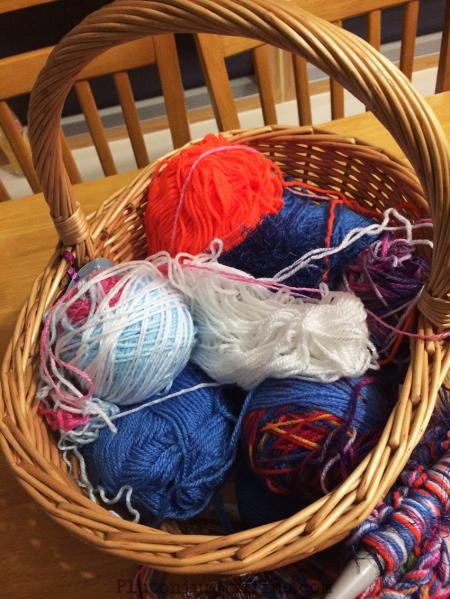 A basket full of scrummy yarn!