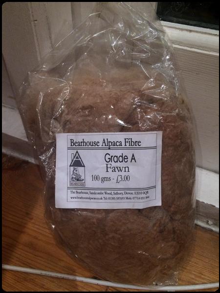 Bearhouse Alpaca fibre in fawn.