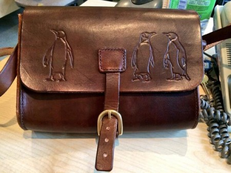 My gorgeous leather satchel, made by Craft Boss. Click on the picture to go to her website (and buy one!)